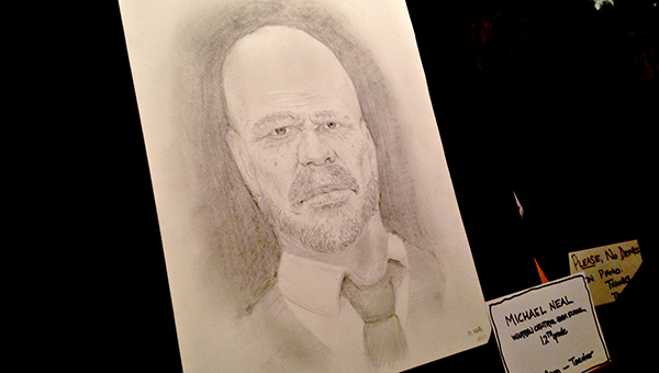140 YEARS LATER: Michael Neal's drawing of former Sheriff Peter Crosby now hangs in the Sheriff's Office. Crosby was the county's first black sheriff.